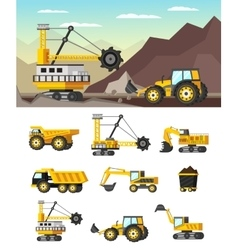 Mining Industry Orthogonal Concept vector image