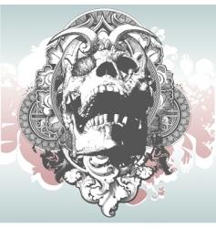 mythical skull illustration vector image vector image