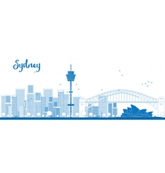 Outline Sydney City skyline vector image