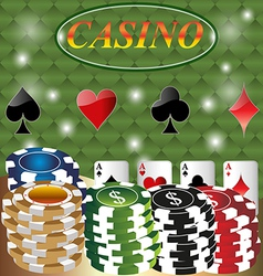 Poker Casino Cards Background Gambling the Symbol vector image vector image