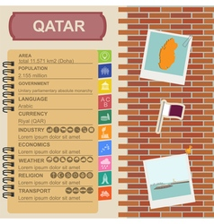 Qatar infographics statistical data sights fort vector