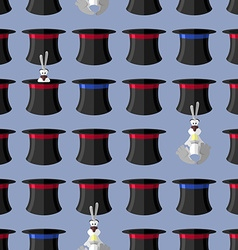 Rabbit in hat seamless pattern background for vector image vector image