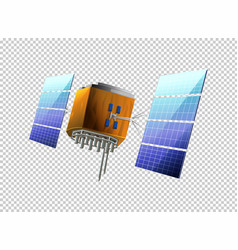 Satellite on transparent background vector