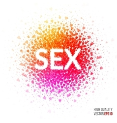 Sex - beautiful design element for greeting card vector image