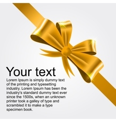 shiny gold satin ribbon vector image