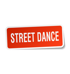 street dance square sticker on white vector image vector image