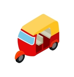 Thai taxi tuktuk icon isometric 3d style vector image