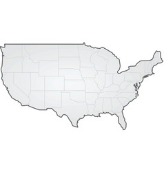 Usa states border map vector