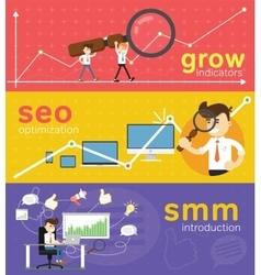 Website smm and seo optimization vector