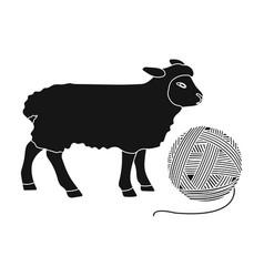 Wool single icon in black stylewool vector