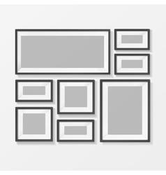 Blank picture or foto frame for interior vector