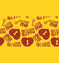 love you me seamless pattern vector image