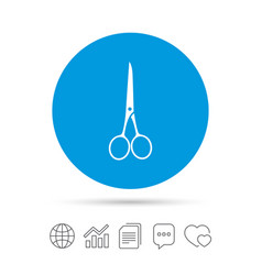 Scissors hairdresser closed icon tailor symbol vector