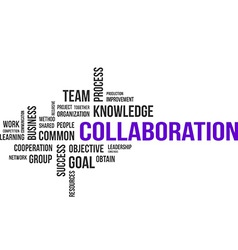 Word cloud collaboration vector