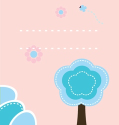 Cute easter nature background or print vector