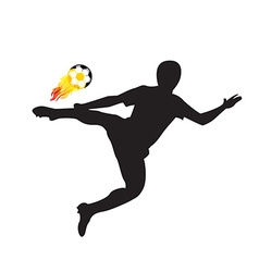 Player shot the fire ball design elements vector