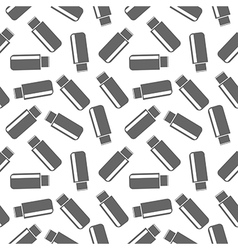 Seamless pattern with icons of flash drive vector