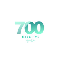 700 green pastel gradient number numeral digit vector