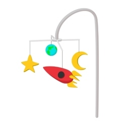 Bed carousel cartoon icon vector image