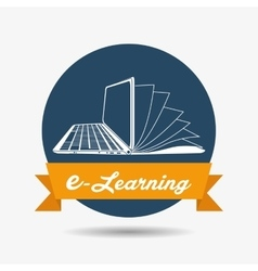 E-learning icon design vector