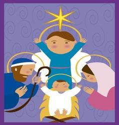 Baby-Jesus-in-a-manger 10 vector image vector image