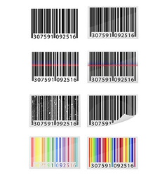 barcode 09 vector image vector image