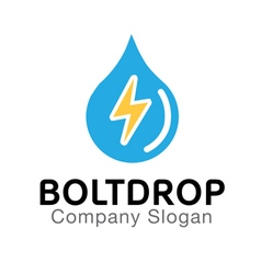 Bolt drop design vector
