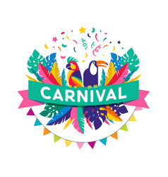 brazilian carnival banner vector image vector image