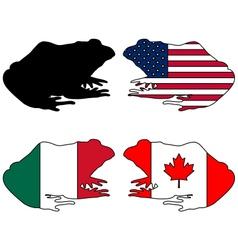 Bullfrog flags vector