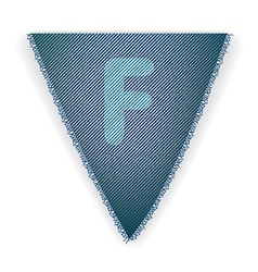 Bunting flag letter f vector