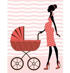 chic pregnancy vector image vector image
