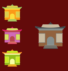 Chinese holiday home tample set vector