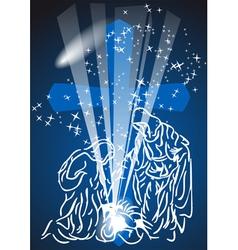 Christmas comet vector