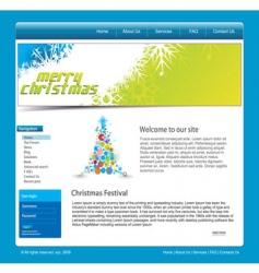 Christmas web template vector