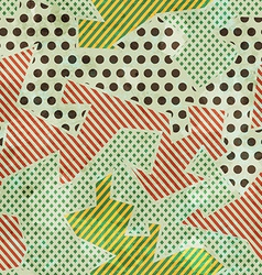 cloth seamless pattern vector image vector image