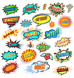 Comics design elements vector