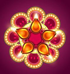 Creative happy diwali background vector