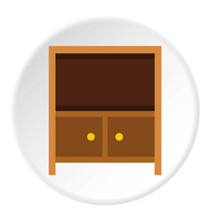 Curbstone under tv icon circle vector