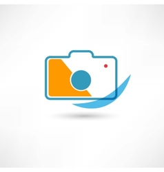 Digital cam line icon vector image vector image