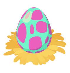 Dinosaur egg icon isometric style vector