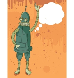 funny robot speaking vector image