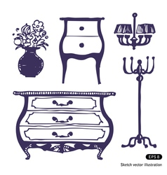 Furniture set vector image vector image