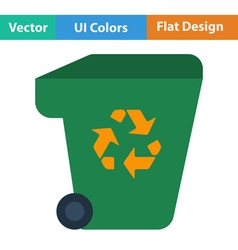 Garbage container with recycle sign icon vector image vector image