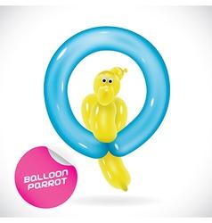 Glossy balloon parrot vector
