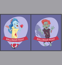 halloween night collection on vector image vector image