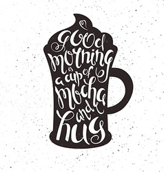 Hand drawn printable of cup of mocha with vector