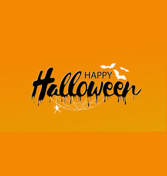 Happy halloween text banner vector