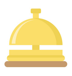 Hotell bell flat icon travel and tourism vector