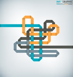 Interlaced Ribbon vector image vector image