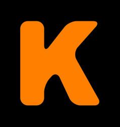 letter k sign design template element orange icon vector image